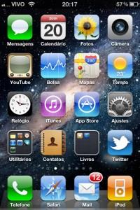 Imagem aplicativos iPhone 4
